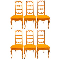 Set of Six Palm Springs Provincial Dining Chairs by Noel F. Birns