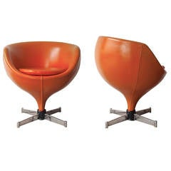 "Pair of ""Luna"" Chairs by Pierre Guariche"