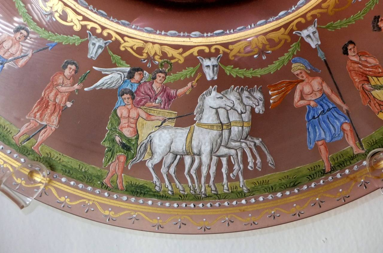 Italian Salviati & C. Venetian Polychrome Enameled and Gilded Glass Centerpiece For Sale