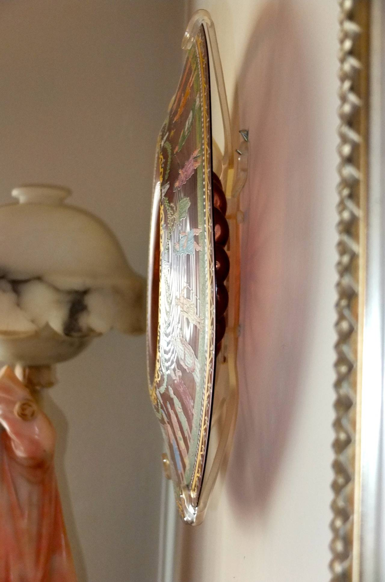 Murano Glass Salviati & C. Venetian Polychrome Enameled and Gilded Glass Centerpiece For Sale