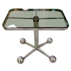 Space Age Italian Chrome Rolling Table by Allegri