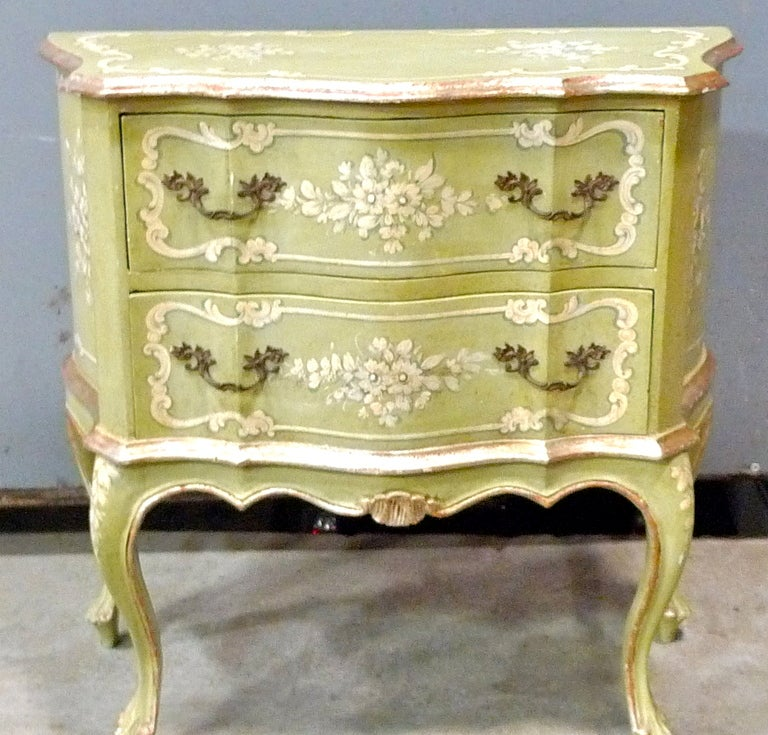 Rococo Hand Painted Venetian Chest