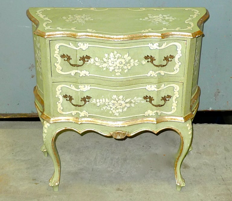 Hand Painted Venetian Chest In Good Condition In Hingham, MA