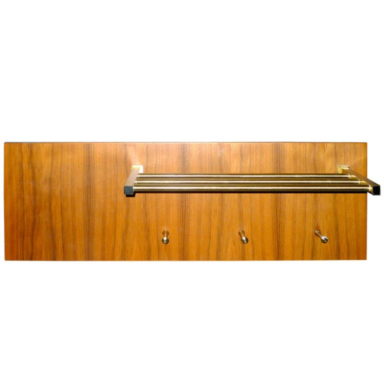 Mid Century Wall Mounted Coat Rack For Sale At 1stdibs