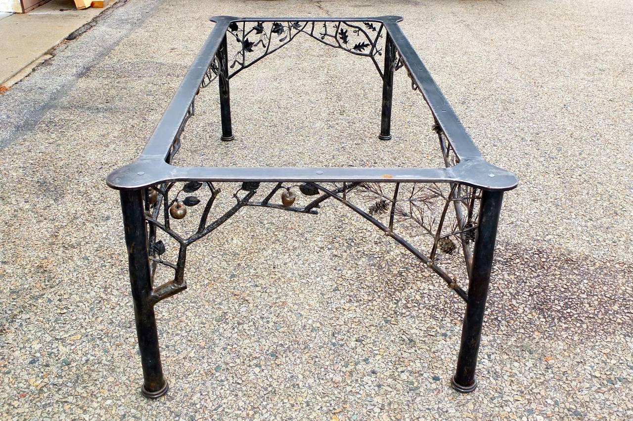 four seasons fer forge dining table by dereck glaser for sale at 1stdibs. Black Bedroom Furniture Sets. Home Design Ideas