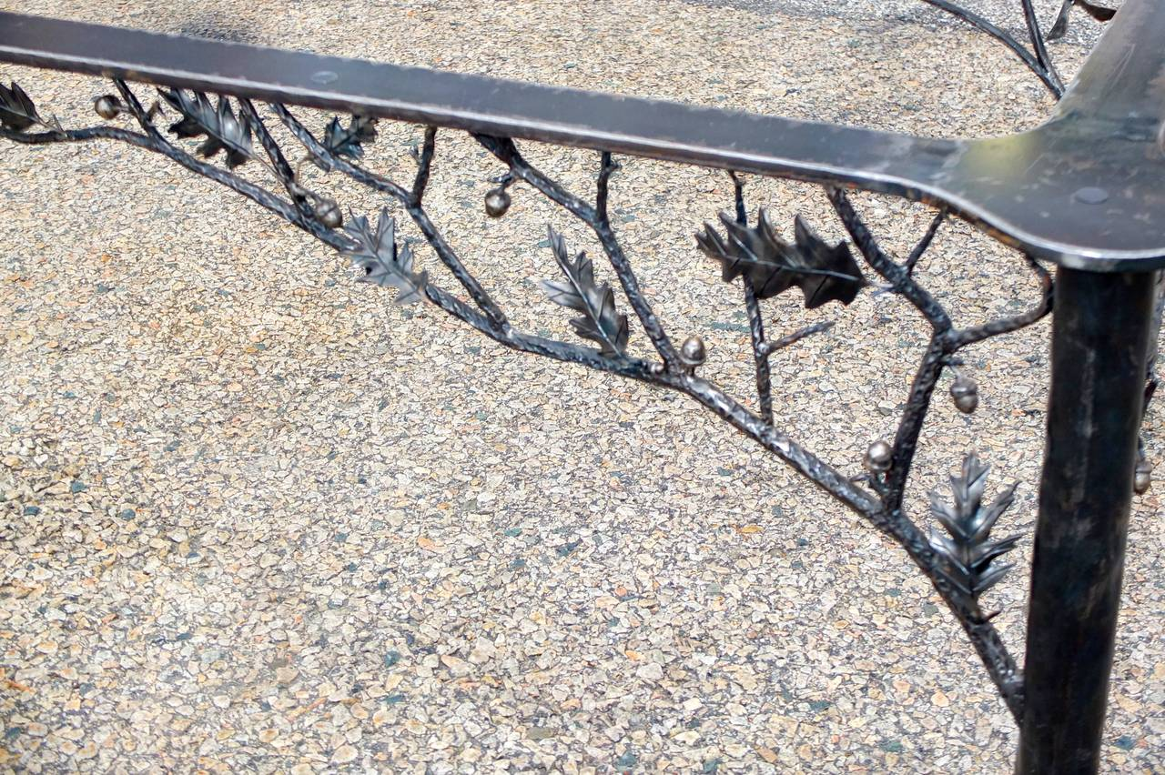 Four Seasons Fer Forge Dining Table by Dereck Glaser at