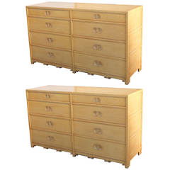 Pair of Baker Far East Collection Chests of Drawers