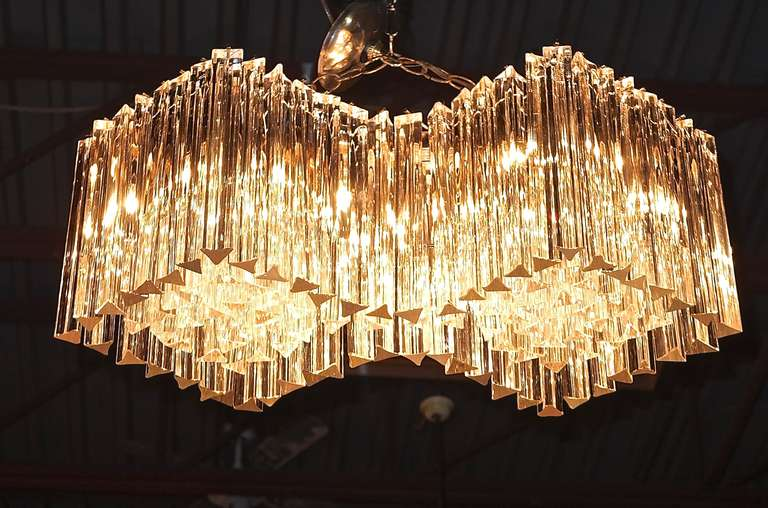 Venini double diamond chandelier at 1stdibs modern venini double diamond chandelier for sale mozeypictures Images