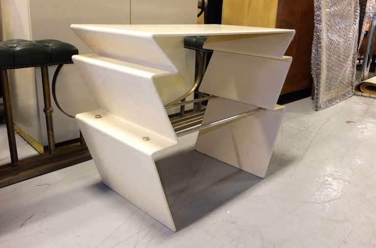 Chrome LeavittWeaver Lighting Table for Randolph & Heine For Sale
