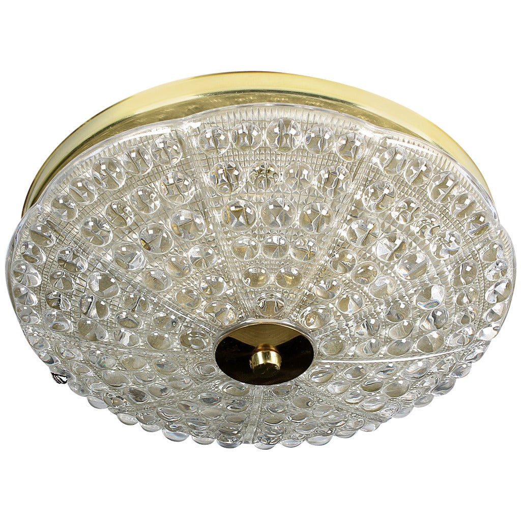 Orrefors Crystal Ceiling Light by Carl Fagerlund