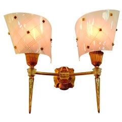 1940's French Dual Sconce