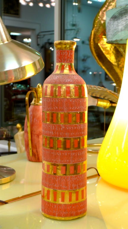 Italian Ceramic Bottle For Sale 1