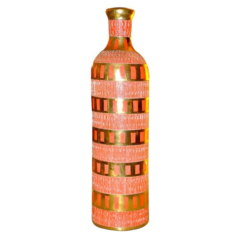 Italian Ceramic Bottle For Sale