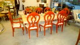 Set of 8 Venetian Baroque Style Dining Chairs thumbnail 5