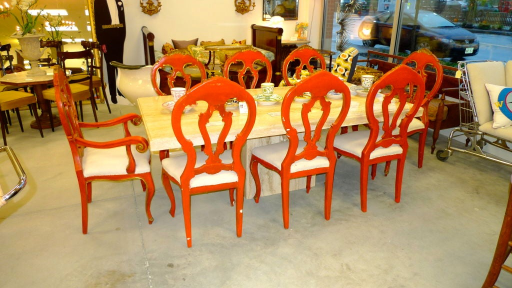 Set of 8 Venetian Baroque Style Dining Chairs image 5