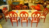 Set of 8 Venetian Baroque Style Dining Chairs thumbnail 7