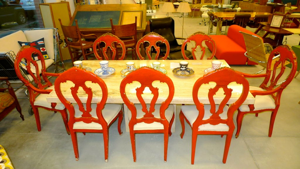 Set of 8 Venetian Baroque Style Dining Chairs image 7