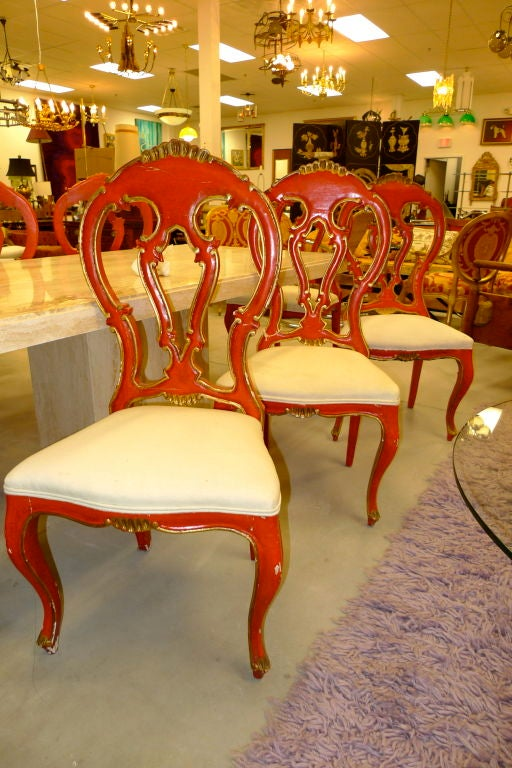 Set of 8 Venetian Baroque Style Dining Chairs image 3