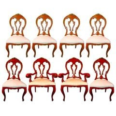 Set of 8 Venetian Baroque Style Dining Chairs thumbnail 1