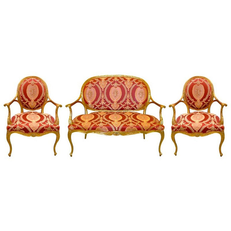 Salon Suite by Galimberti Lino - Settee And Pair Arm Chairs