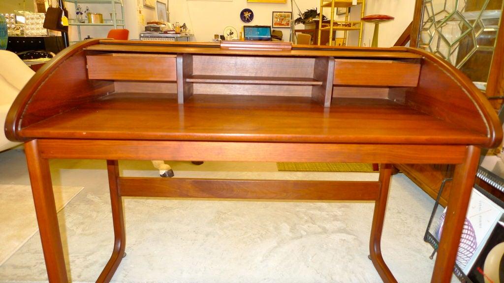 Teak Roll Top Desk By Brown Saltman At 1stdibs