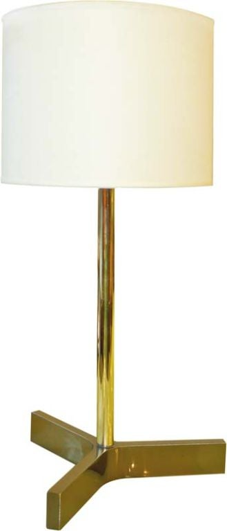 Roger Fatus for Disderot Bronze Lamp, Gunmetal & Brass For Sale
