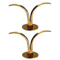 Pair Of Candle Holders by Ivar Alenius Bjork