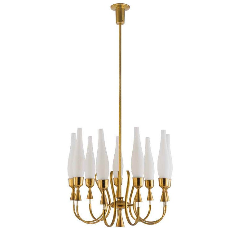 1950's Italian Chandelier by Angelo Lelii for Arredoluce For Sale