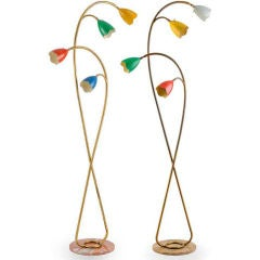 Pair of 1960's Italian Floor Lamps attributed to Arredoluce