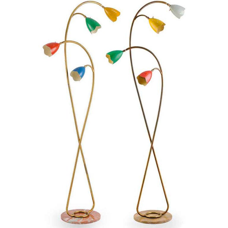 Pair of 1960's Italian Floor Lamps attributed to Arredoluce