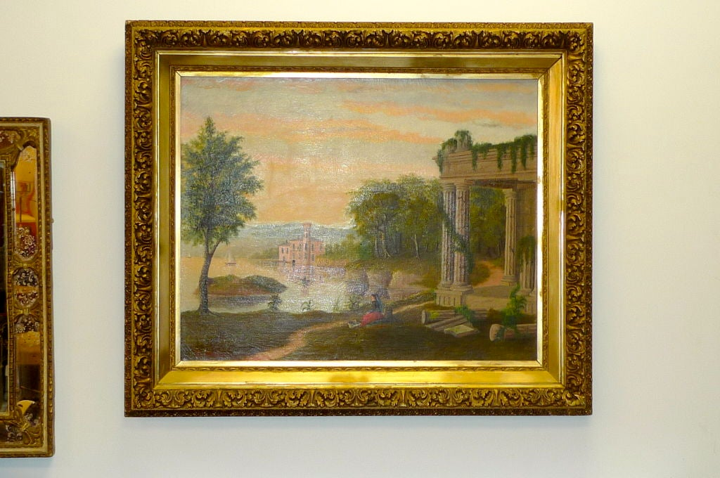 Canvas 19th Century European Pastoral Painting by Tom WIlson (American) For Sale