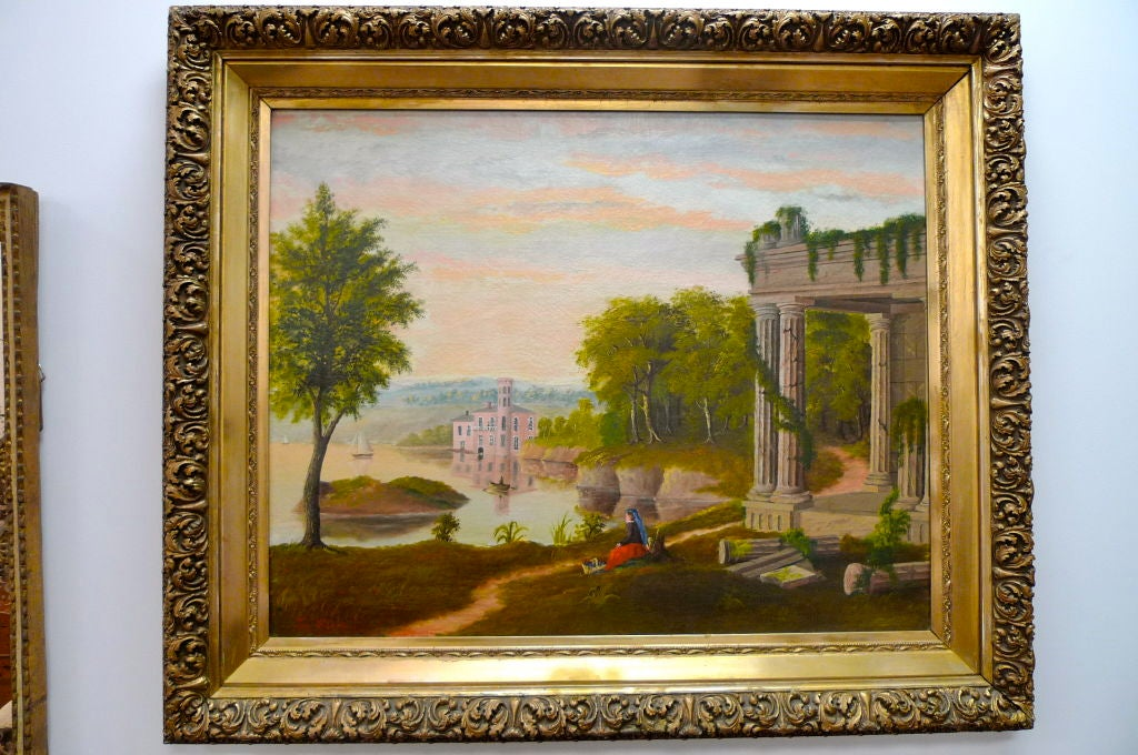 19th Century European Pastoral Painting by Tom WIlson (American) For Sale 1