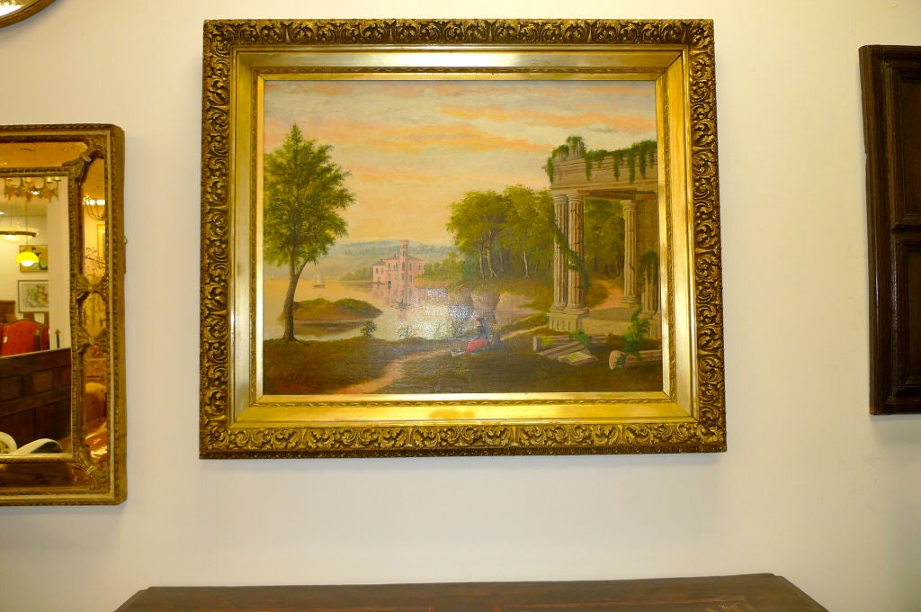 19th Century European Pastoral Painting by Tom WIlson (American) For Sale 3