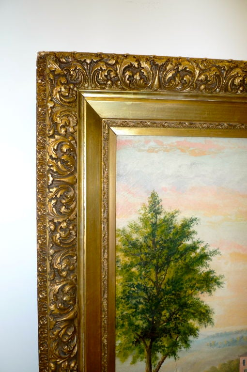 19th Century European Pastoral Painting by Tom WIlson (American) For Sale 5