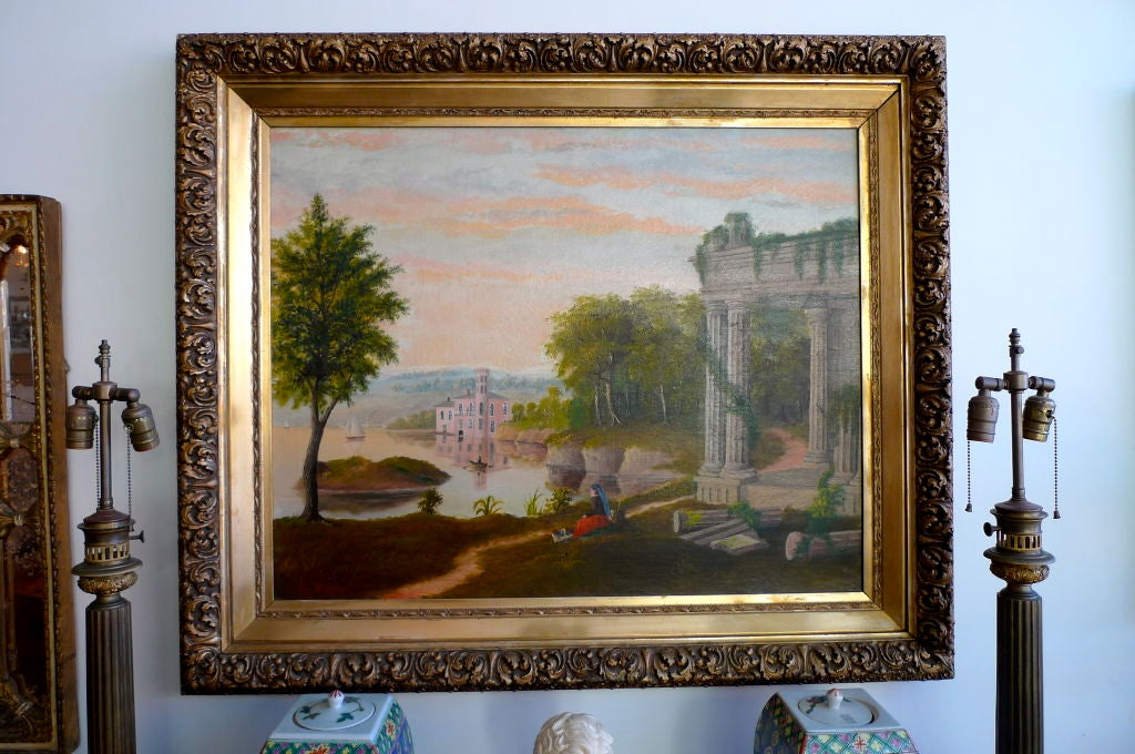 19th Century European Pastoral Painting by Tom WIlson (American) For Sale 6