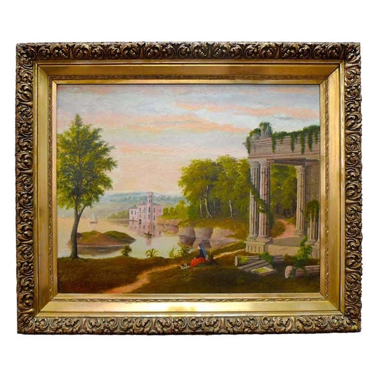 19th Century European Pastoral Painting by Tom WIlson (American) For Sale