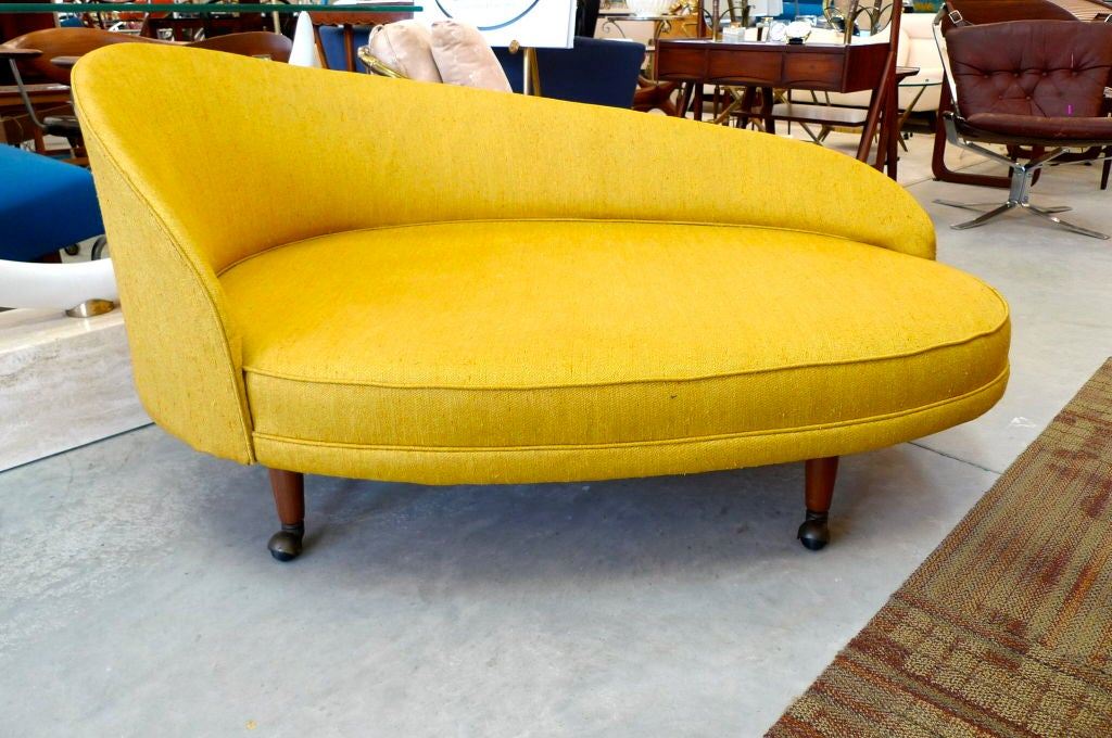 A curvaceous and languid chaise by Adrian Pearsall for Craft Associates circa 1965.