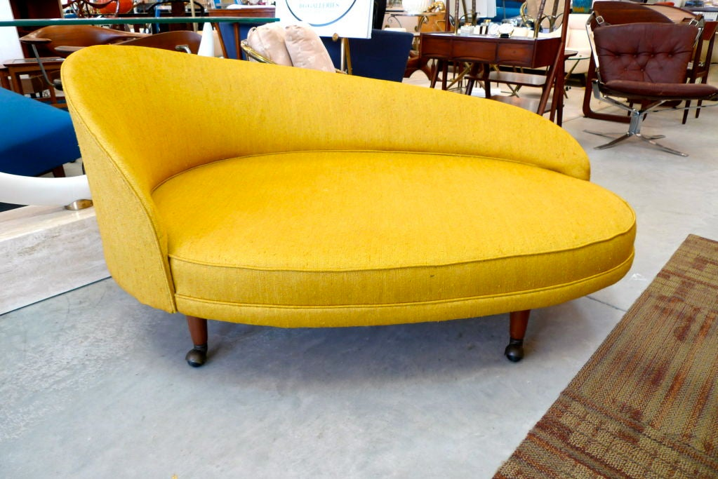American Adrian Pearsall for Craft Associates Curved Chaise For Sale