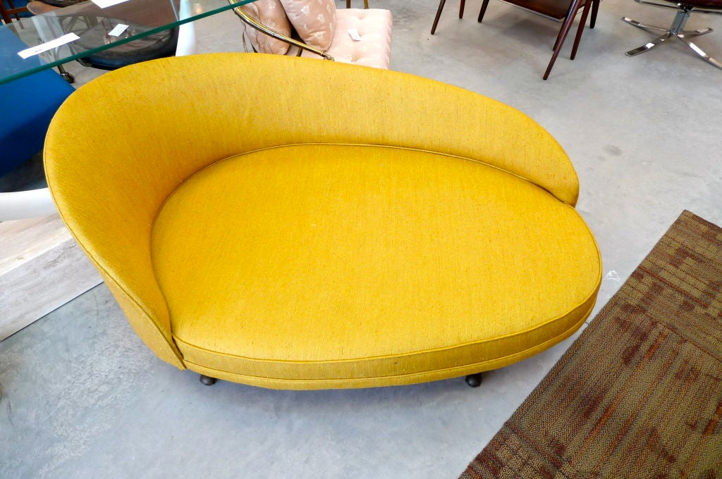 Mid-20th Century Adrian Pearsall for Craft Associates Curved Chaise For Sale