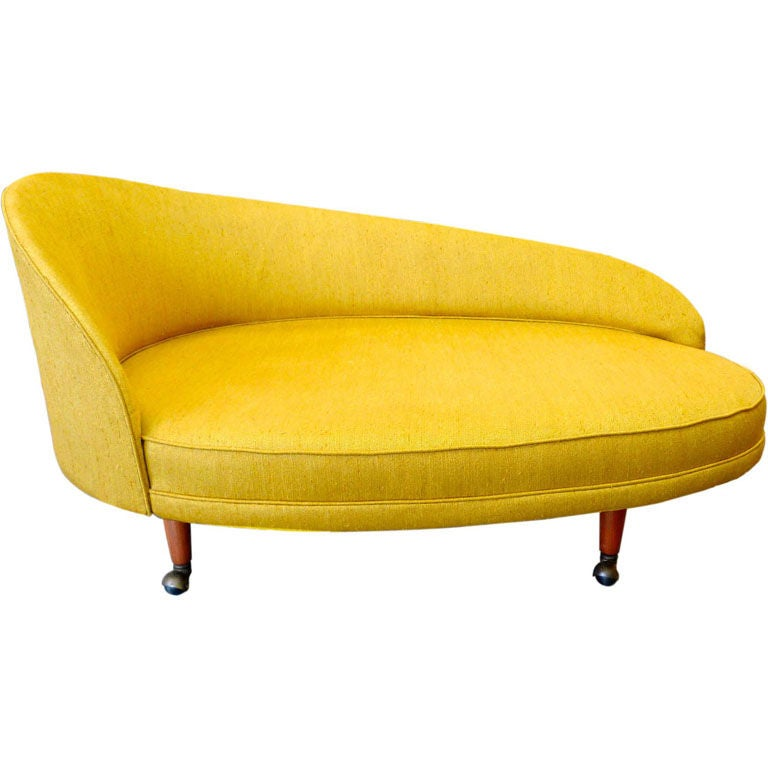 Adrian pearsall for craft associates curved chaise at 1stdibs for Curved lounge