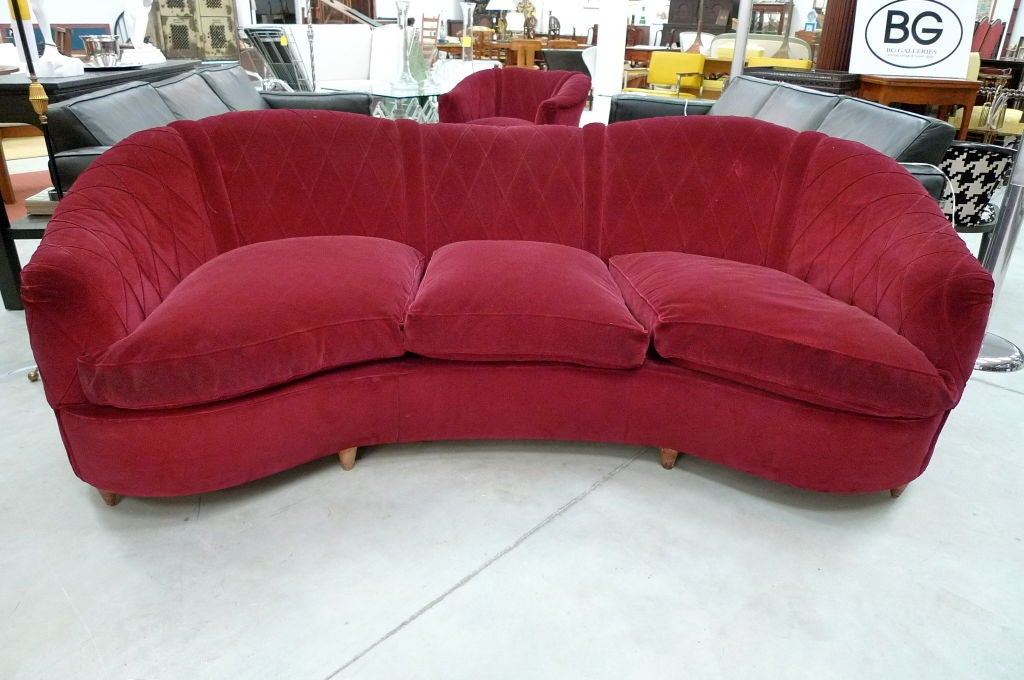 French Art Deco Velvet Upholstered Chair For Sale 11