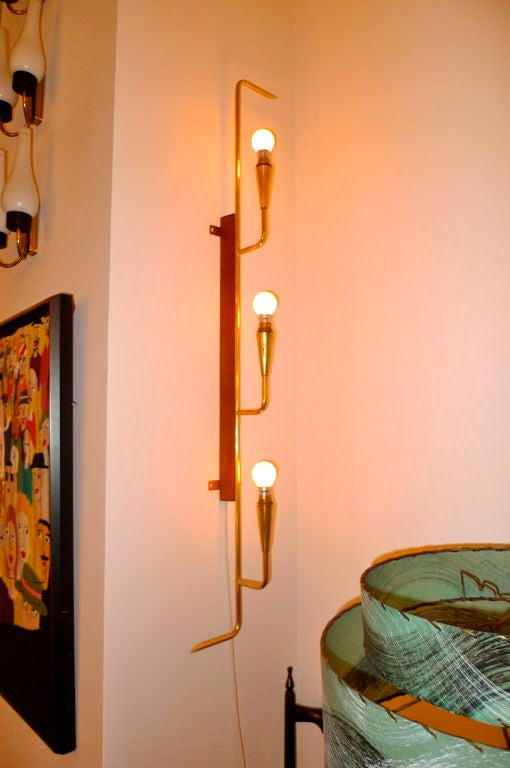 French Modernist Long Wall Light For Sale at 1stdibs