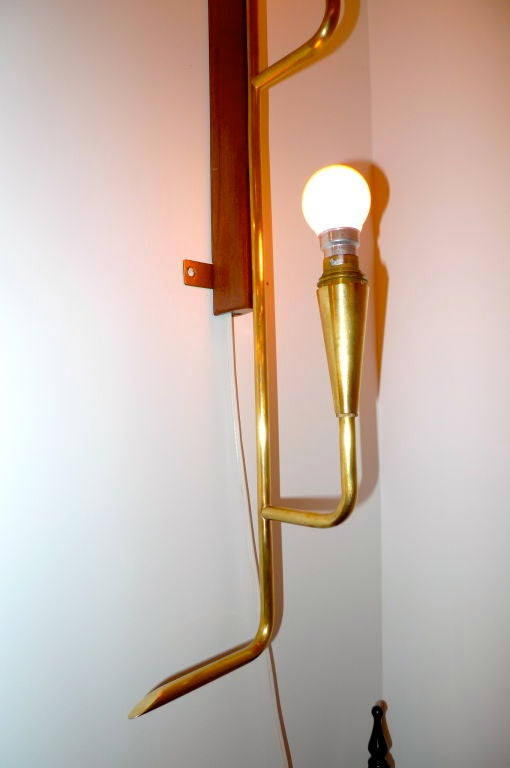 Long Vertical Wall Sconces : French Modernist Long Wall Light For Sale at 1stdibs
