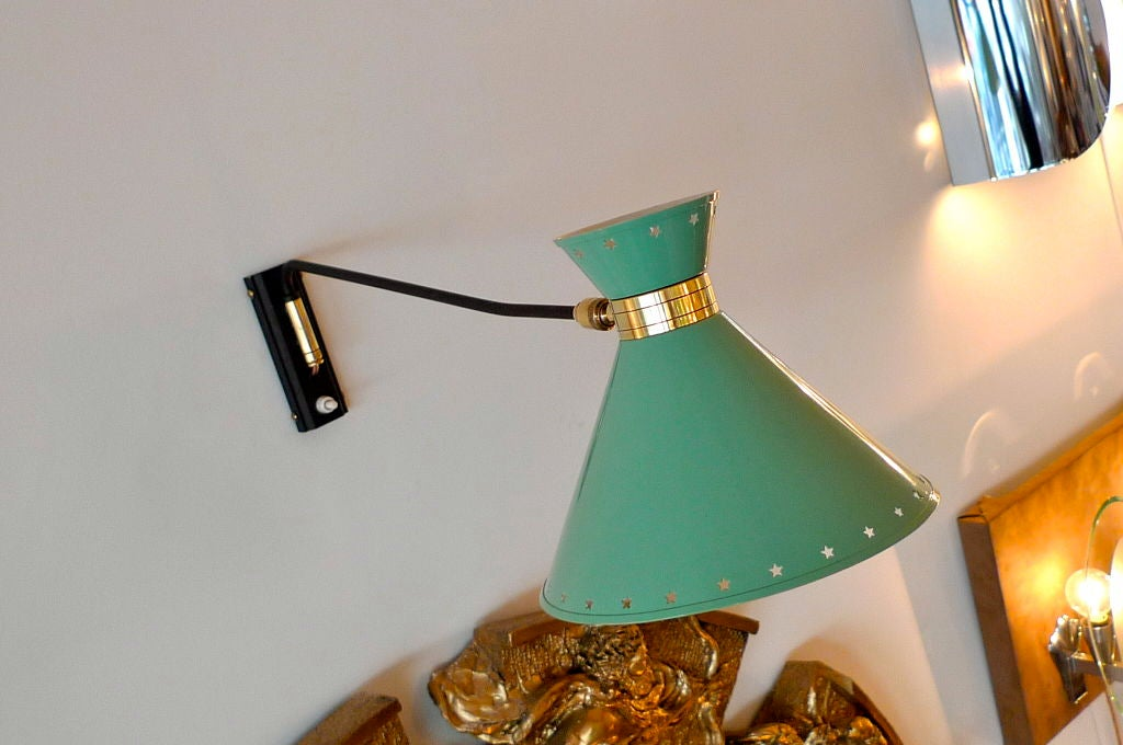 French Articulating Wall Sconce by Rene Mathieu for Lunel For Sale 2
