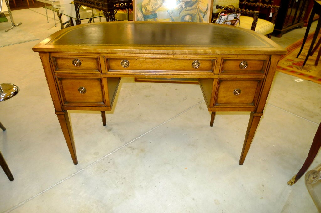 neoclassical demi lune desk by sligh lowry at 1stdibs