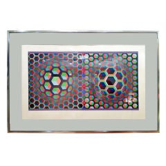 Signed & Numbered Victor Vasarely OpArt Silk Screen Lithograph