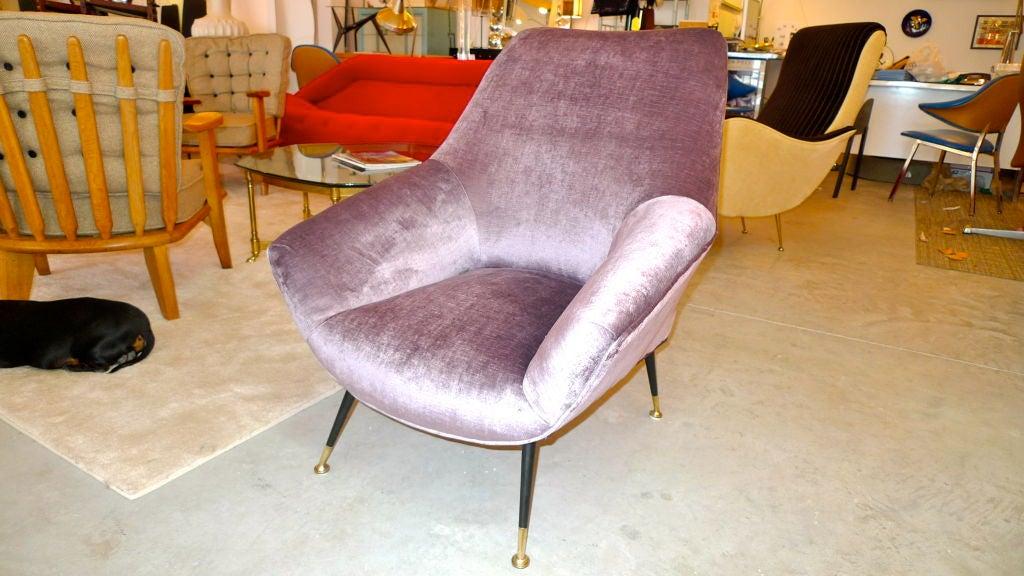 Mid-20th Century Petite Italian Club Chair For Sale