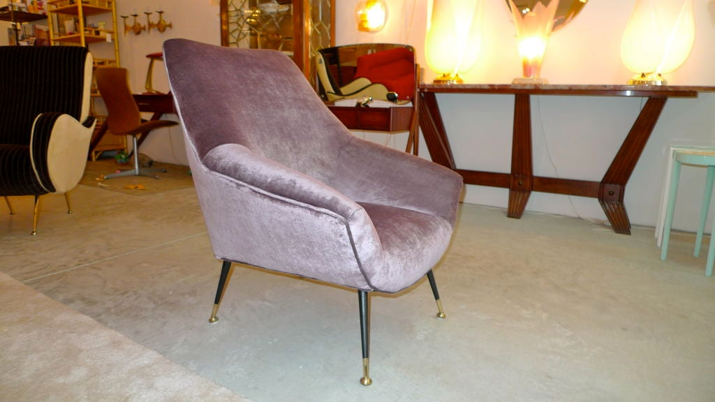 Petite Italian Club Chair For Sale 1