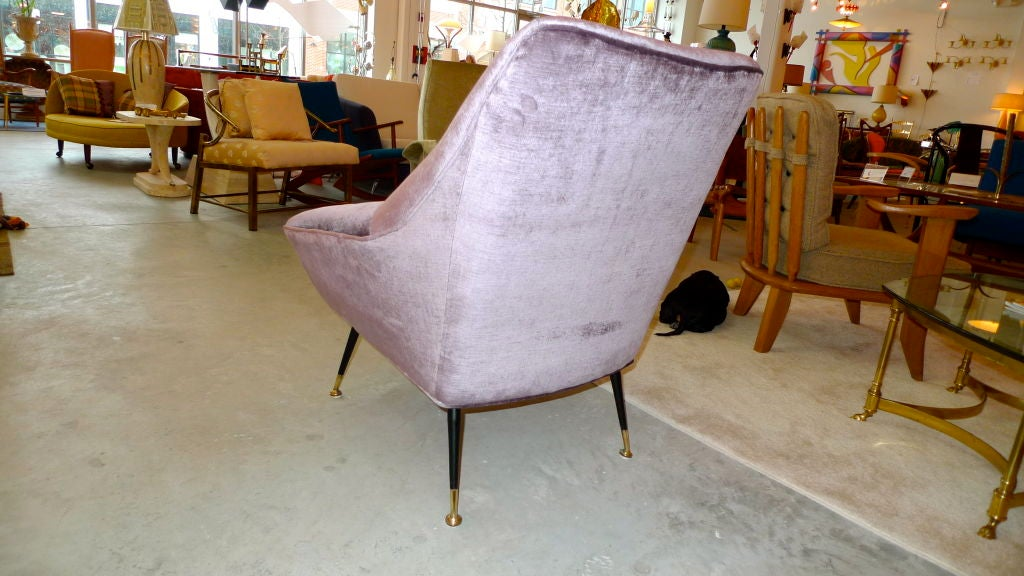 Petite Italian Club Chair For Sale 2