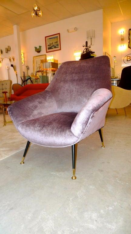 Petite Italian Club Chair For Sale 3